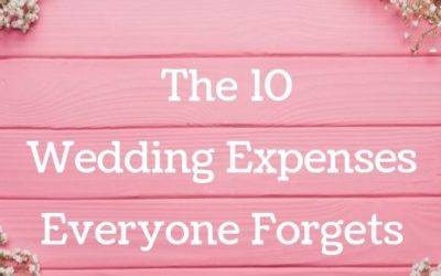 The 10 Wedding Expenses Everyone Forgets